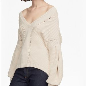 French Connection Millie Mozart Sweater Cream L